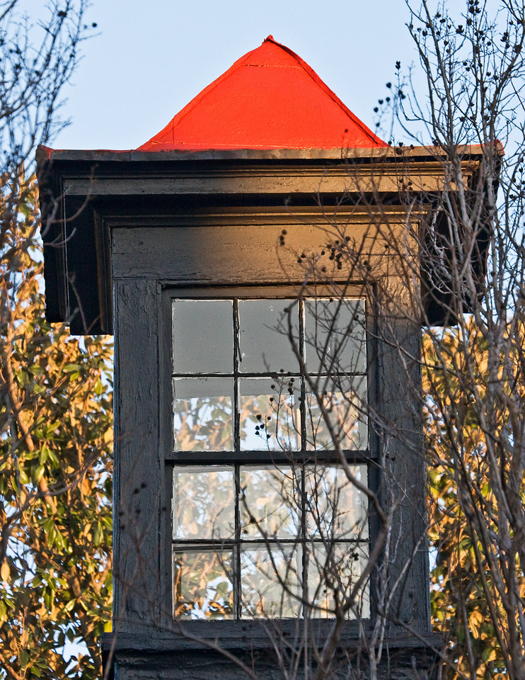 Look-out tower in an old house in Charleston, South Carolina.
