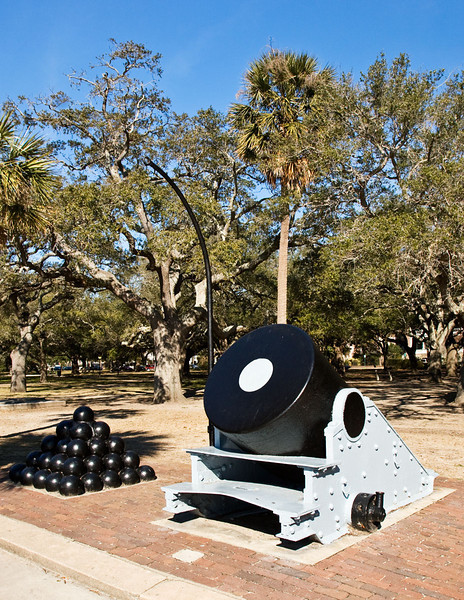 Civil War era Mortar in Battery Park, Charleson, South Carolina.