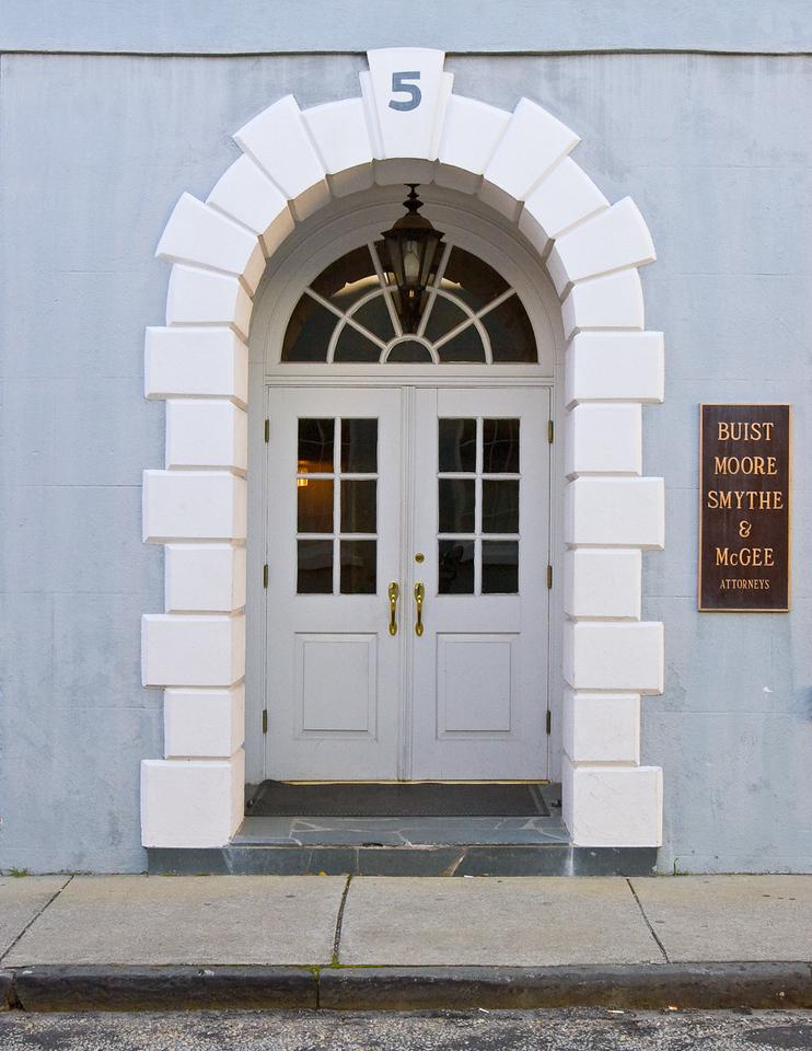 Office Door in Charleston, South Carolina.