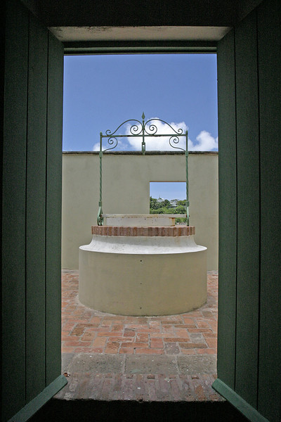 Interior of old spanish fort in Vieques Island, Puerto Rico.