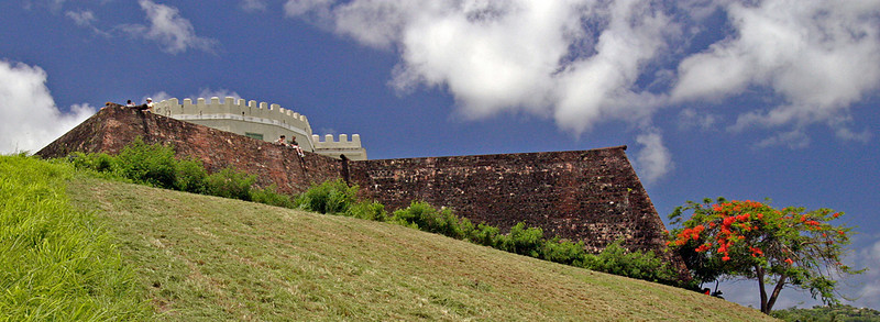 Old Spanish Fort in Vieques Island, Puerto Rico