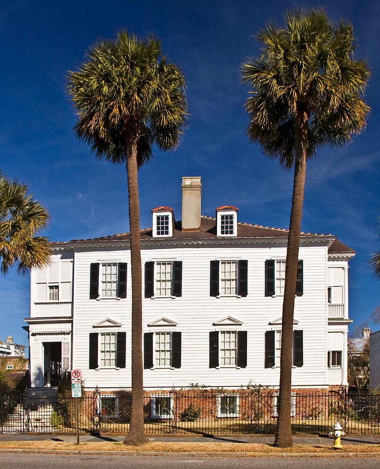 Palmetto fronted House in Charleston, South Carolina.