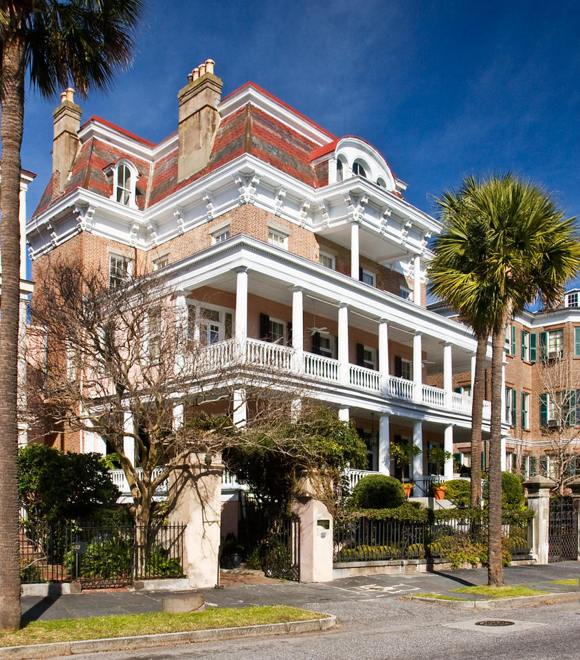 Victorian Style House in Charleston, South Carolina.