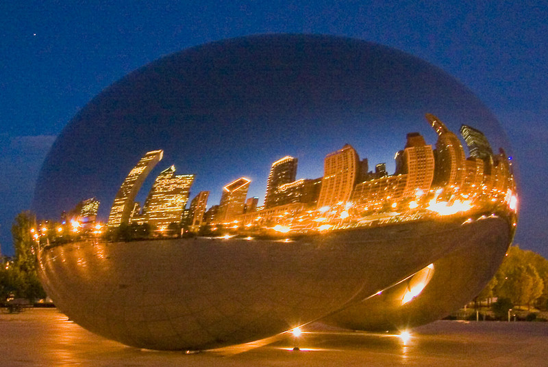 Millenium Park at night, Chicago