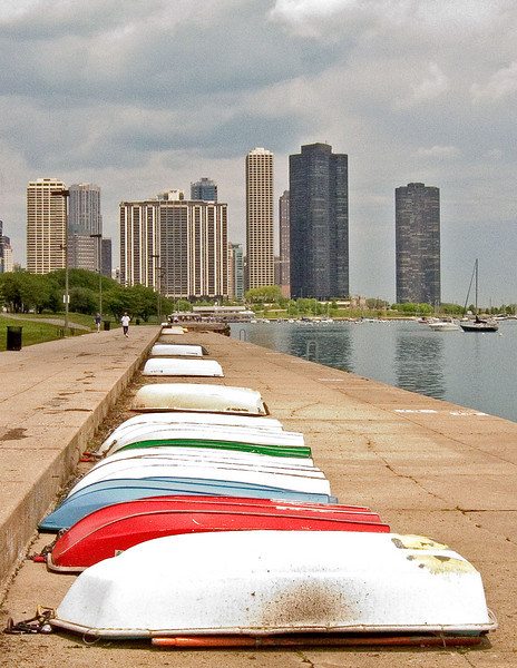 Lakefront in Chicago.