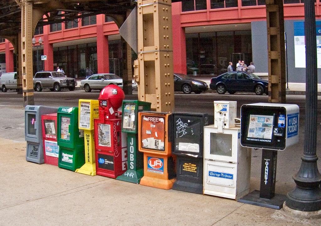 Reader's dilemma in Chicago Street.