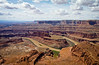 View of the buttes of Canyonlands National Park from the Dead Horse Point's mesa