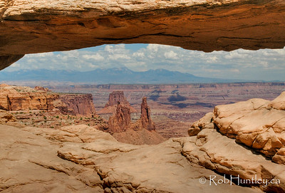 Mesa Arch in Canyonlands National Park in Utah.