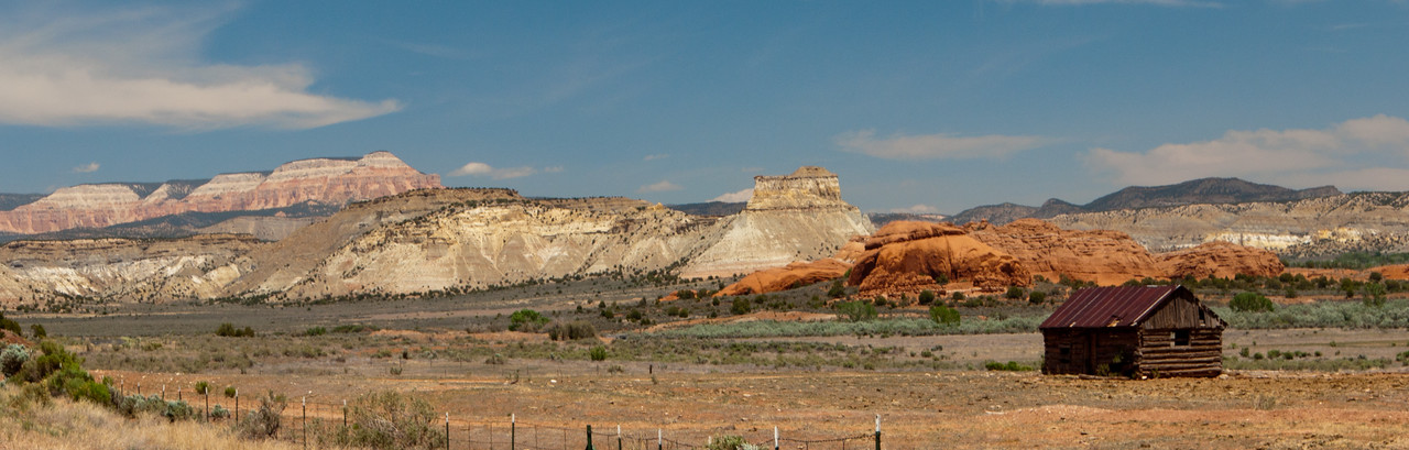 Lonely farmstead outside Kodachrome Basin