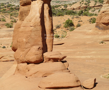 Side view of Delicate Arch