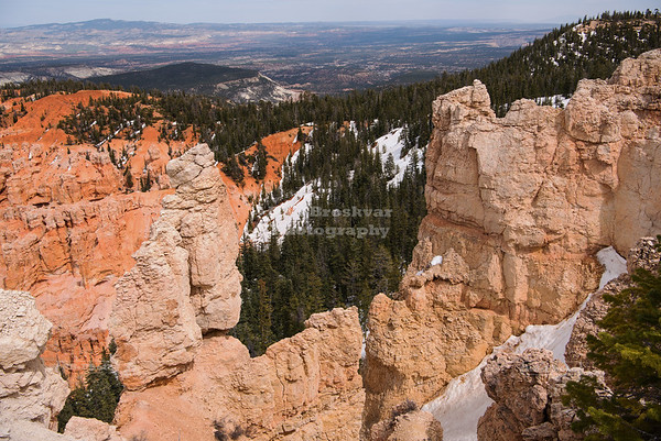 Panoramic view from Rainbow Point at Bryce Canyon