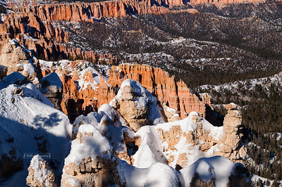 Snow at Bryce Canyon's Rainbow Point