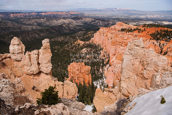 Panoramic view at Rainbow Point in Bryce Canyon