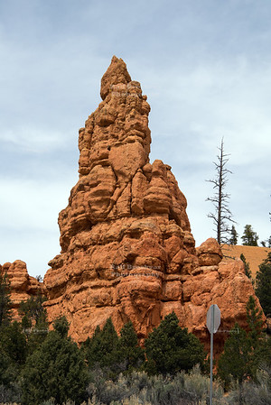 Rock Spire in Red Canyon