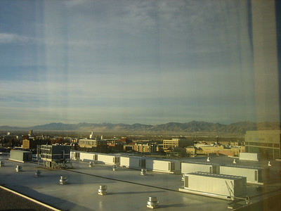 SLC as seen from the hotel window.