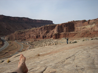 Only 100m into Arches National Park and the view was already impressive.