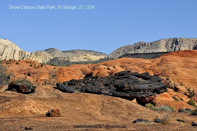 Lava on red rock