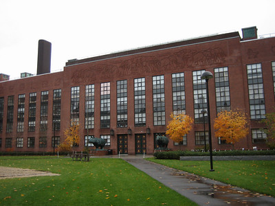 This building houses Howard Berg's lab (among others), at Harvard. His lab is on the third floor above the rhinos. For those of you who don't know, Howard Berg is famous for his work on E. Coli chemotaxis.