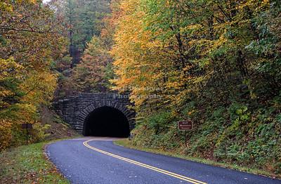 Blue Ridge Parkway, Milepost 53.1, Bluff Mountain Tunnel