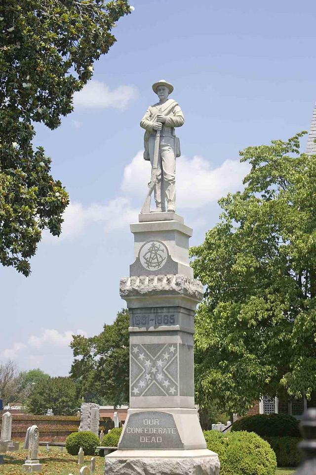 Civil War Memorial in downtown Hampton, Virginia.