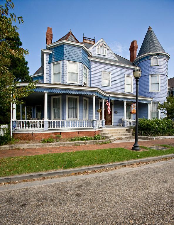 Blue House in Main Street, Smithfield, Virginia.