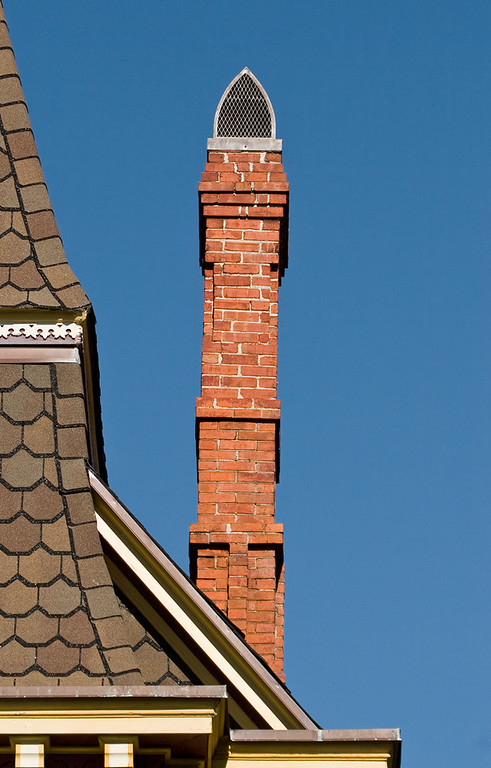 Chimney at the Bed and Breakfast in Main Street, Smithfield, Virginia.