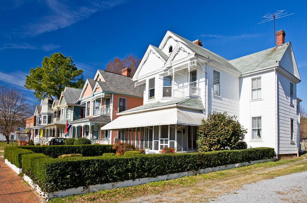 Houses in Main Street, Smithfield, Virginia