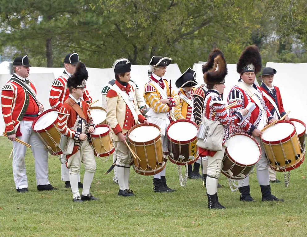 Celebration of the Victory at Yorktown 2006. British Fife and Drum Corps.