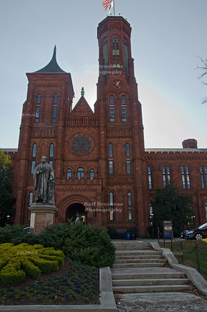 Smithsonian Castle on the National Mall in Washington