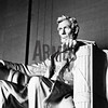 Abraham Lincoln statue inside the Lincoln Memorial<br /> Washington DC