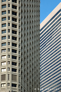 Close up detail of high rise buildings in downtown Seattle, Washington. © Rob Huntley