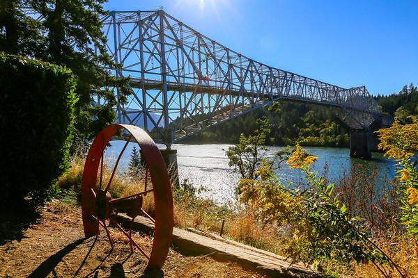 Bridge of the Gods in Cascade Locks, Oregon