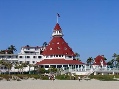The famous Coronado hotel, Coronado Island CA