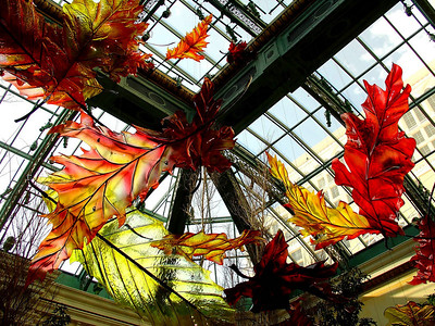 Dale Chihuly glass sculpture, Bellagio Conservatory & Botanical Gardens
