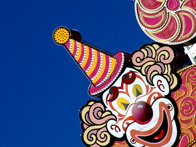 Close up of the Circus Circus Clown, Las Vegas Strip