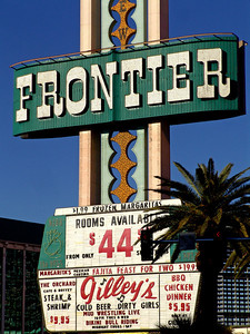 Gilley's, Cold Beer... Dirty Girls Frontier Hotel, Las Vegas Strip