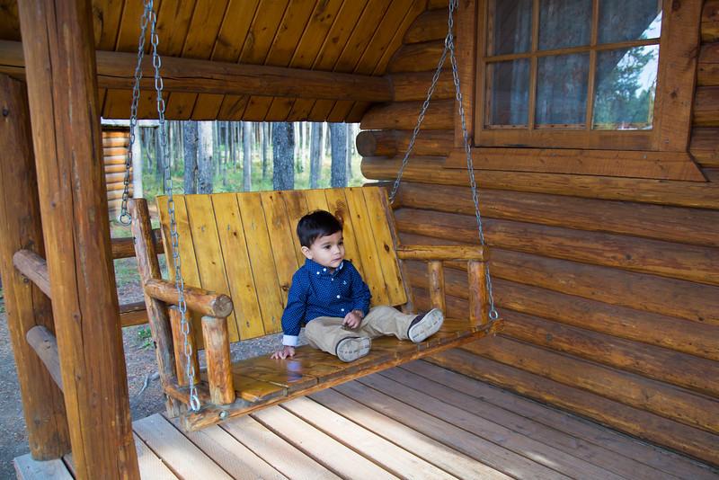 At KOA Camping Cabin at West Glacier