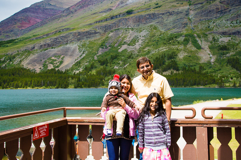 At Swiftcurrent Lake