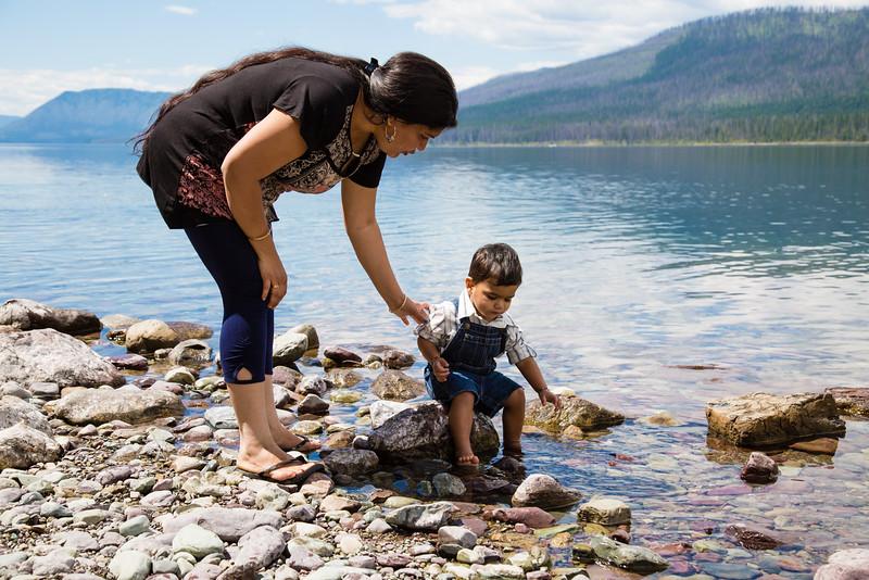 Kirtan playing at Lake McDonald