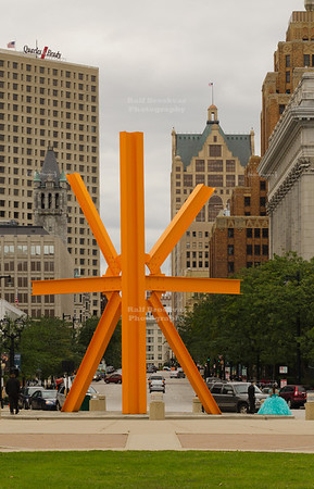 Steel sculpture in Milwaukee
