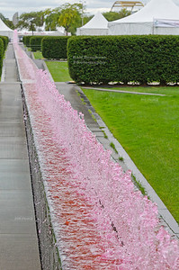 Pink water fountain
