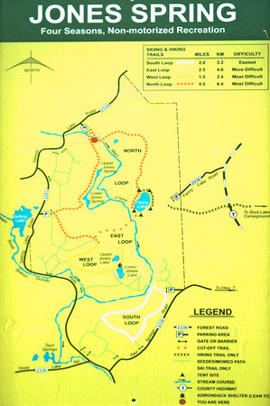 Map of the Jones Spring Area Trail System in Chequamegon-Nicolet National Forest, Wisconsin, USAKONICA