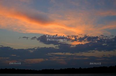 Sunrise over Lake Thompson, Oneida County, Wisconsin