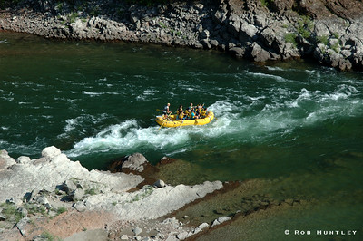 Rafting on the Snake River in Wyoming. This shot was taken north of Alpine Wyoming en route to Jackson on Hwy 26/89. © Rob Huntley