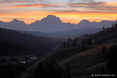 Sunset behind the Grand Tetons in Wyoming. HDR. © Rob Huntley