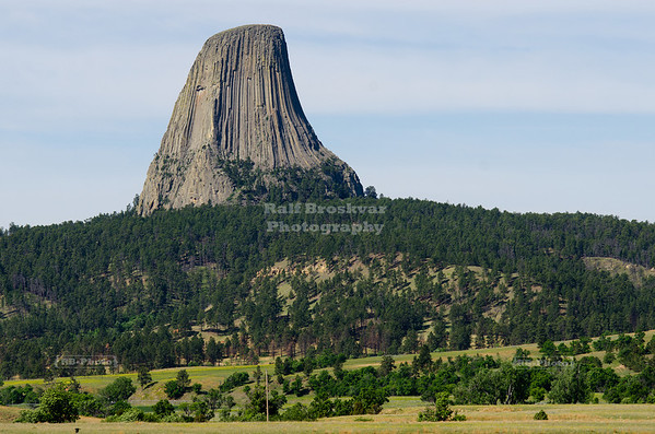 Devil's Tower National Monument, also known as Bear lodge in the Black Hills near Hulett, Wyoming
