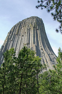 The short Tower trail around Devil's Tower National Monument offers spectacular views of the tower, Wyoming, USA