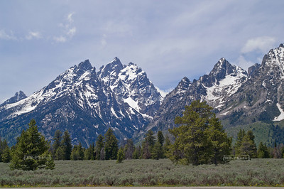The Teton range near Jenny Lake, Grand Teton National Park, Wyoming, USA