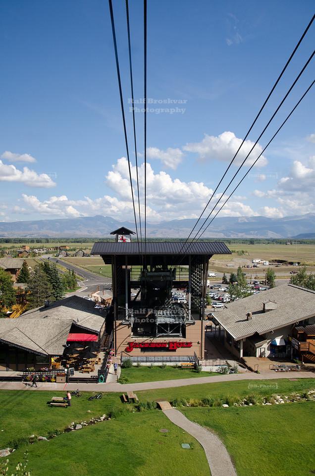 Aerial Tram in Teton Village