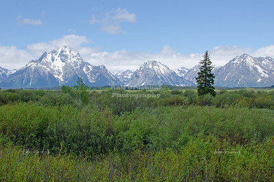 Teton Range at Grand Teton National Park, Wyoming, USA